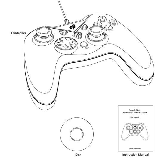 Cosmic Byte C1070T Interstellar Wired Gamepad Rubberized Texture