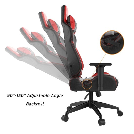 GAMDIAS ACHILLES E1 L CHAIR -BLACK-RED