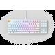 Glorious GMMK Modular Mechanical keyboard (White ice) - Gateron Brown Switch