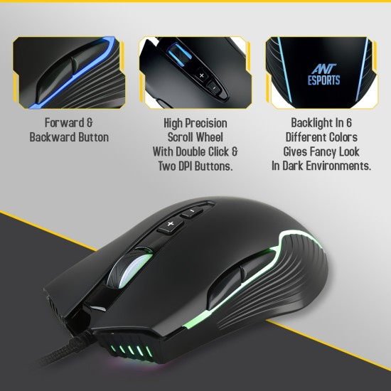 Ant Esports GM 500 RGB Gaming Mouse