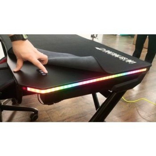 GAMDIAS DAEDALUS M1 RGB GAMING DESK-BLACK-BLACK