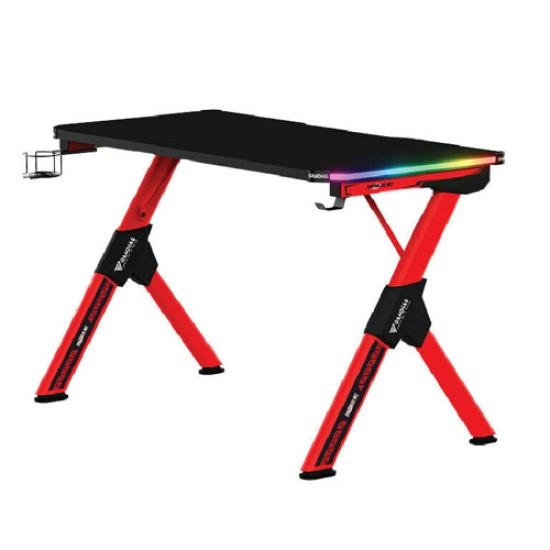 GAMDIAS DAEDALUS M2 RGB GAMING DESK-BLACK-RED