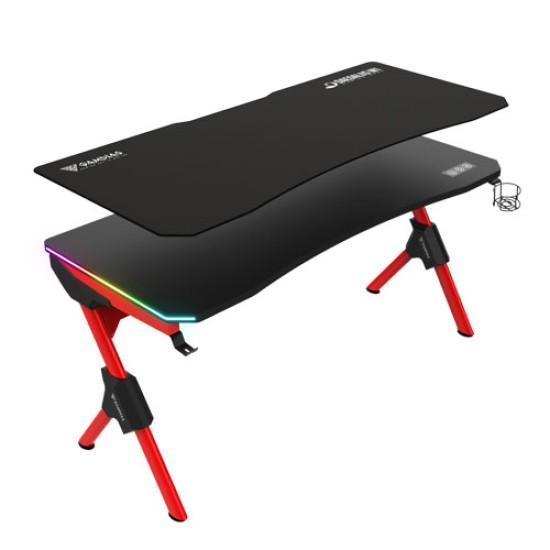 GAMDIAS DAEDALUS M1 RGB GAMING DESK-BLACK-RED