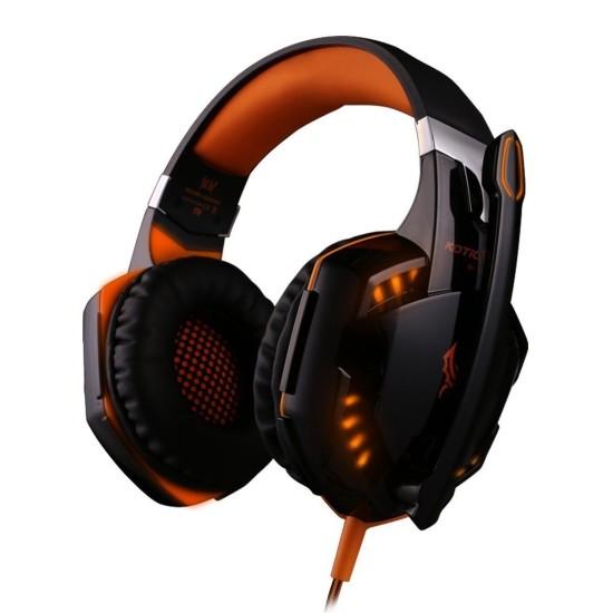 KOTION EACH OVER THE EAR HEADSET - G2000 (BLACK/ORANGE)