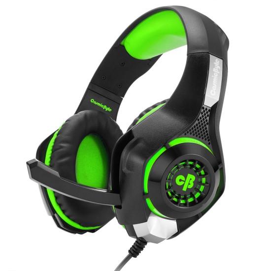COSMIC BYTE GS410 HEADPHONES WITH MIC (BLACK-GREEN)