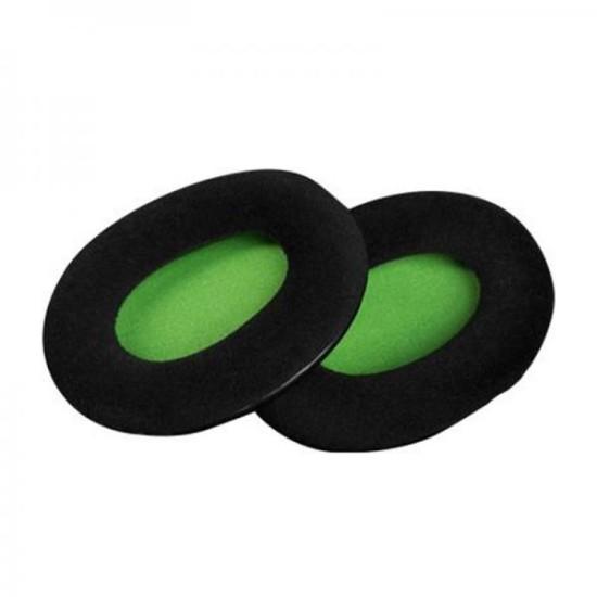 HyperX Cloud Velour Ear Cushions (Black/Green)