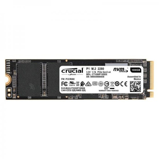 Crucial P1 1000GB M.2 NVMe